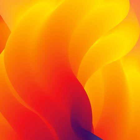 fiery: Abstract orange sunny web background. Vector illustration. Stock Photo
