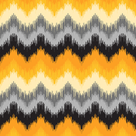 Abstract background. Colorful zigzag print for textile, wallpaper, card. Ikat seamless pattern. Vector illustration.