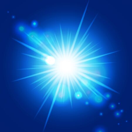 Abstract blue sunburst. Vector background for you design, web design, desktop wallpaper or website. Stock Photo