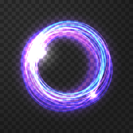 Glowing lilac vector circle on the transparent background. Reklamní fotografie - 95812408