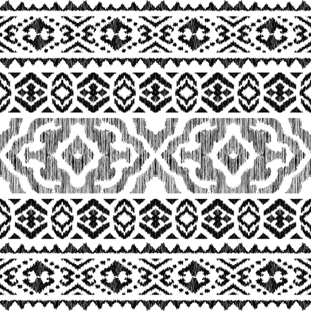 Ethnic Seamless Pattern Tribal Stripe Illustration Endless Texture In Black And White Colors Beautif Jpg 450x450