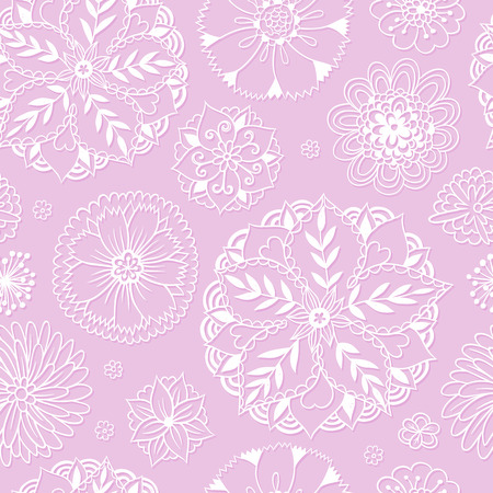 Seamless pattern with floral romantic elements. Vector illustration. Endless texture for season spring and summer design. Can be used for wallpaper, textile, gift wrap, greeting card background.