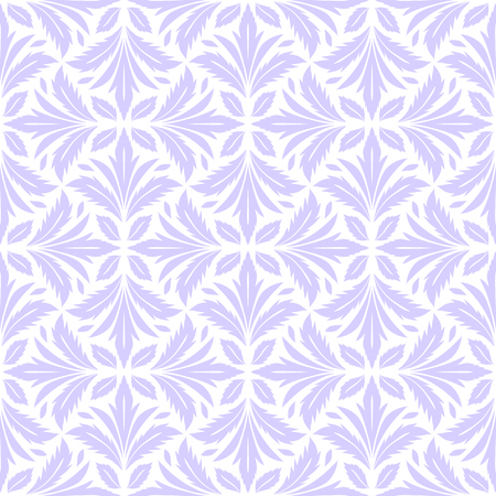 Abstract leaves pattern in baroque style. Seamless vector background. Lilac and white texture. Graphic vector wallpaper.