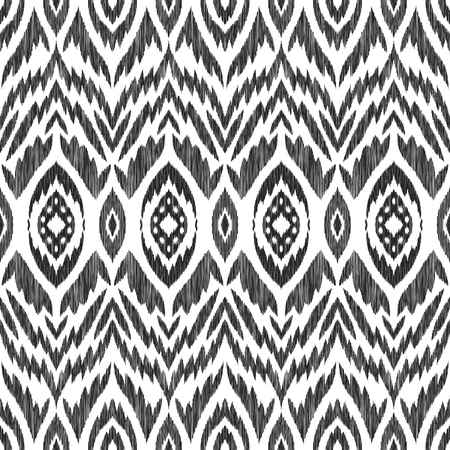 Seamless pattern in aztec style. Black and white print for textile, wallpaper, card or wrapping paper.