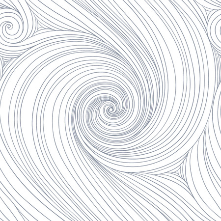 Swirl seamless pattern. Abstract wallpaper with curly lines. Linear textured background. Vector illustration. Minimalistic style.