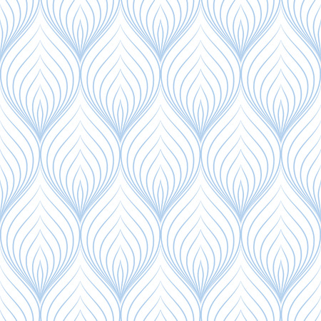 Seamless pattern. Abstract leaves print. Geometric simple tile texture. Black and white vector illustration. Usable for fabric, wallpaper, textile.