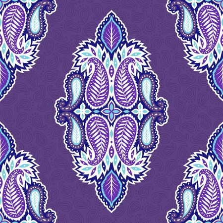 Paisley seamless pattern. Indian tribal ornament. Modern boho textile print. Stok Fotoğraf