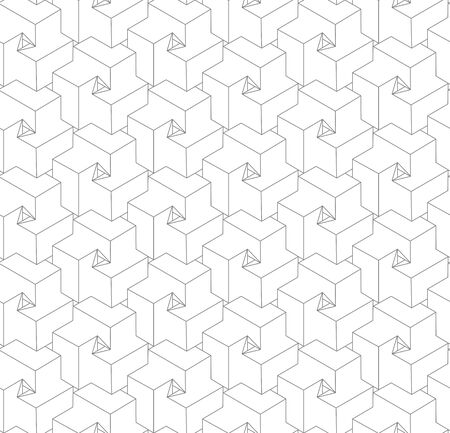 Seamless linear pattern in gray color.