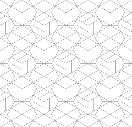 Abstract geometric seamless linear pattern.