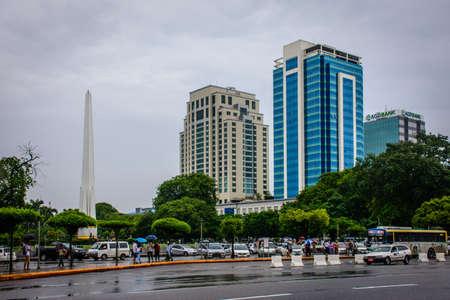 downtown area of Yangon, Myanmar, June-2017