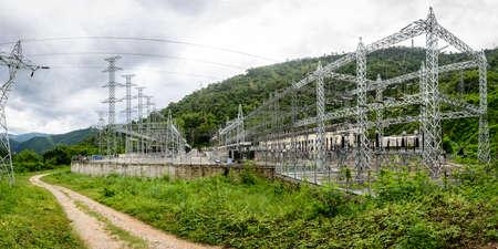 Lawpita Hydropower Station, Kayah State, Myanmar, Oct-2017 Stock Photo