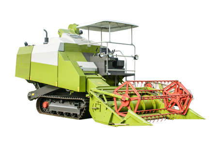photo of harvest machine with isolated background