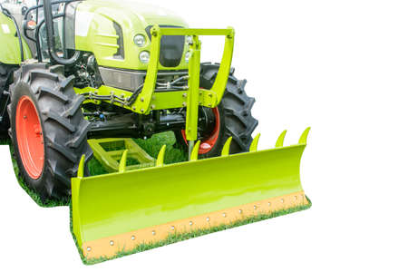 photo of brand new tractor, with isolated background