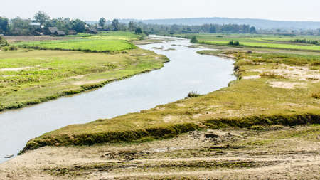 Beautiful scenery of countryside, Myanmar Imagens