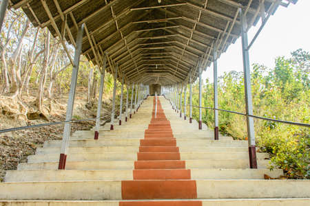 photo of stairway, at Shwe Set Taw pagoda, Myanmar