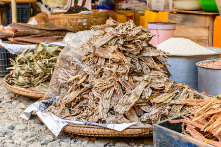 traditional foods shop at Shwe Set Taw pagoda festival, Myanmar, Feb-2018