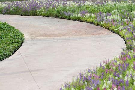 curve: Curve footpath Stock Photo