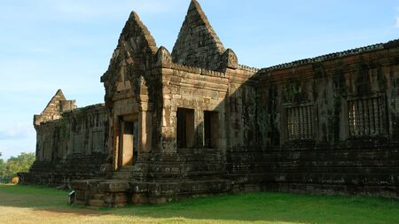 Poo temple is Khmer architecture art in Khmer civilization period about Buddhist century 12, Pakse Laos.