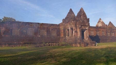 Poo temple is Khmer architecture art in Khmer civilization period about Buddhist century 12, Pakse Laos