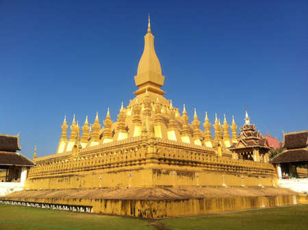 Pha That Luang, Vientiane, Laos Stock Photo