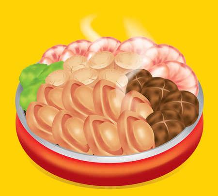 Ein traditionelles chinesisches Gericht heißt Poon Choi oder Pen Chai.