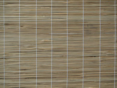 bamboo curtain on the windows photo