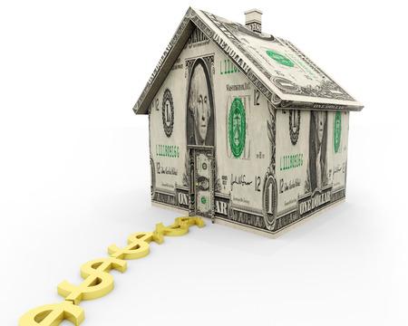 주택 담보, 부동산 및 개인 금융에 관련된 그림.