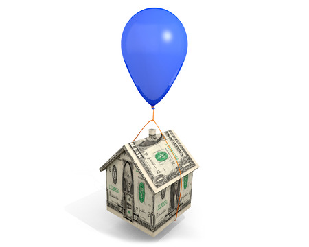 mortgage rates: Balloon Mortgage: An illustration related to Adjustable Rate Mortgages ARMs and the rising interest rates associated with them.