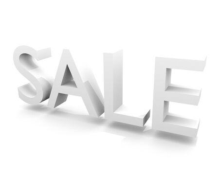 """Marketing-Grafik mit dreidimensionalen Wort """"Verkauf"""" auf weißem Hintergrund. Standard-Bild - 43355753"""