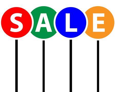 Marketing-Grafik in der superflache Design unter Verwendung der Farben rot, grün, blau, orange und Schwarzweiss. Standard-Bild - 43355752