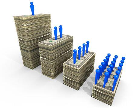 clase media: Un ejemplo relacionado con las disparidades de riqueza. Foto de archivo