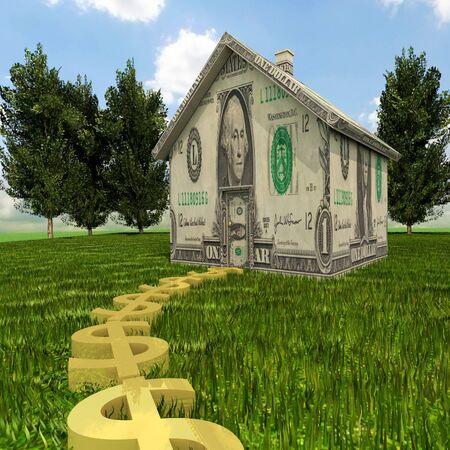 Eine Illustration zu Hause Equity, Immobilien und Personal Finance. Standard-Bild - 45055412