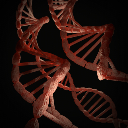 An illustration of a DNA Helix on dark background