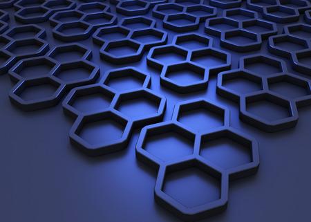 Eine schlanke Stil Illustration eines Honeycomb Hintergrund Standard-Bild - 54793066