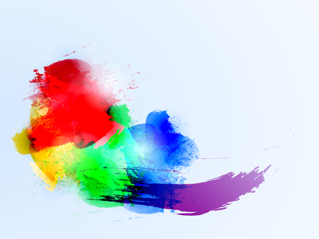 blue  red: blue red yellow green Illustration