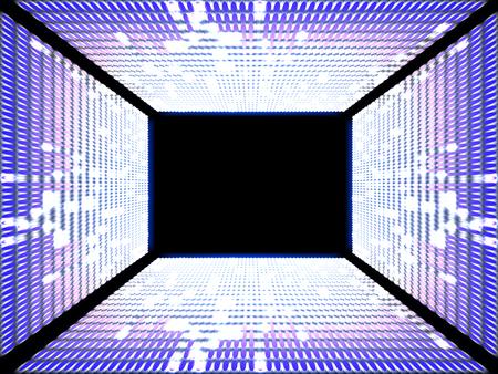 Electronic display equalizer on dark background