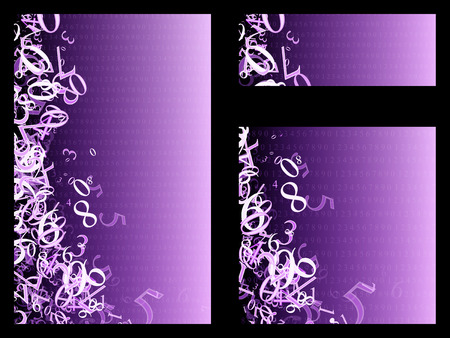 numbers background: random mathematical numbers on a purple background