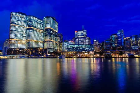 Darling Harbour by night, Sydney, Australia