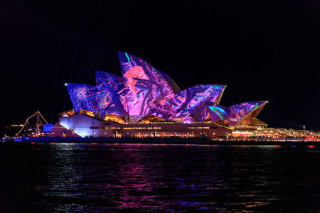 Sydney Opera House durante il Vivid Festival, Australia