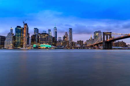Manhattan by night, New York City, United States