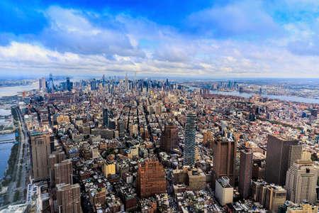 Aerial view of Manhattan, New York City, United States