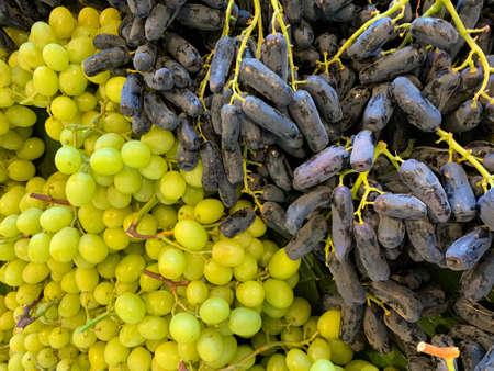 Grapes for sale in street market, Brisbane, Australia