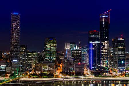 Brisbane City by night, Queensland, Australia