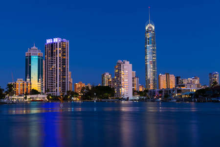 Gold Coast by night, Queensland, Australia