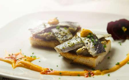 sardines: sardines with salsa