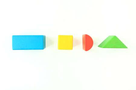 normal school: Toy Wooden Blocks on White