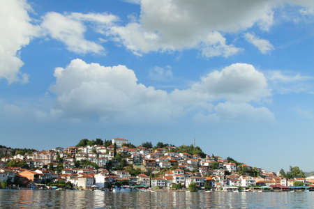 Ohrid Seen from the Lake Stock Photo