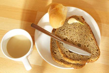 sil: Breakfast on a Window-sil Stock Photo