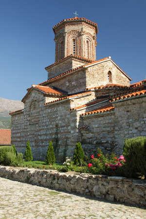 Ancient Saint Naum Monastery at south-west of Macedonia  FYROM , former Yugoslavia Stock Photo - 17642741