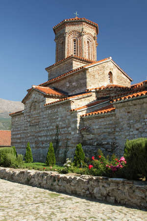 former yugoslavia: Ancient Saint Naum Monastery at south-west of Macedonia  FYROM , former Yugoslavia
